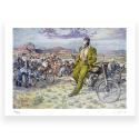 Póster cartel offset Blacksad Juanjo Guarnido, Amarillo's Road firmado (80x60cm)
