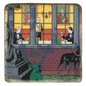 Collectible marble sign Blake and Mortimer The Francis Blake Affair (20x20cm)