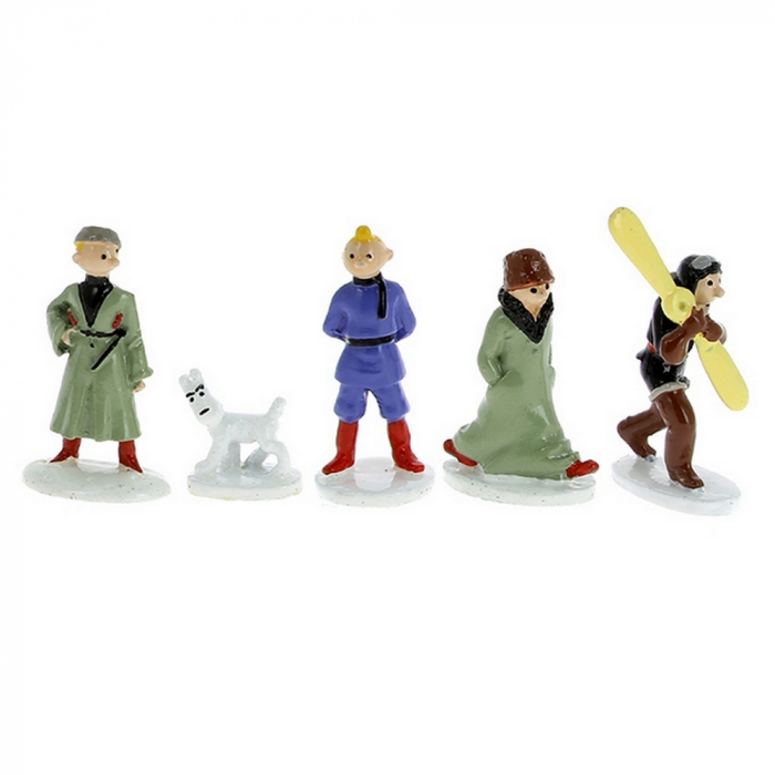 Mini collectible figures set Tintin in the Land of the Soviets 46905 (2018)
