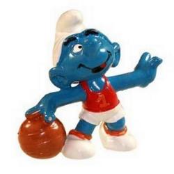 Figura Schleich® Los Pitufos - El Pitufo jugador de baloncesto 1985 (21022)