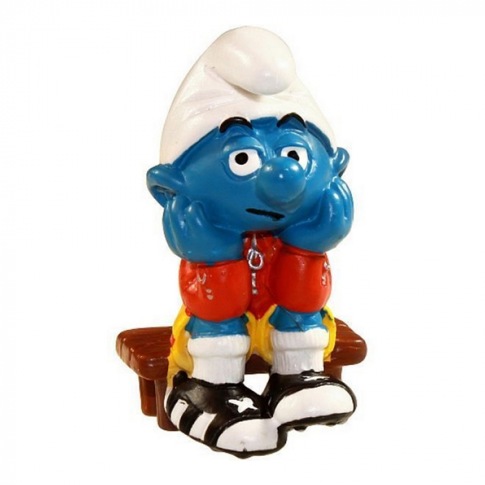 The Smurfs Schleich® Figure - The Football substitute Smurf 2003 (21018)