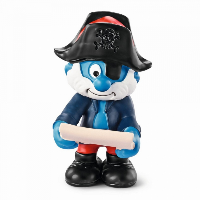 The Smurfs Schleich® Figure - The Ship's Captain Papa Pirate Smurf (20760)