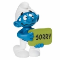 The Smurfs Schleich® Figure - The Smurf with his sign Sorry (20749)