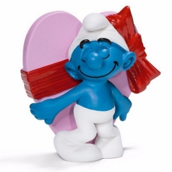 Figura Schleich® Los Pitufos - El Pitufo con regalo de San Valentín (20747)