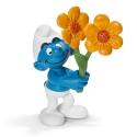 Figura Schleich® Los Pitufos - Pitufo con flores de agradecimiento (20748)