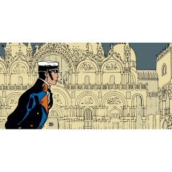 Poster affiche offset Corto Maltese, Histoire (50x25cm)