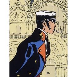 Póster cartel offset Corto Maltés, Historia (18x24cm)