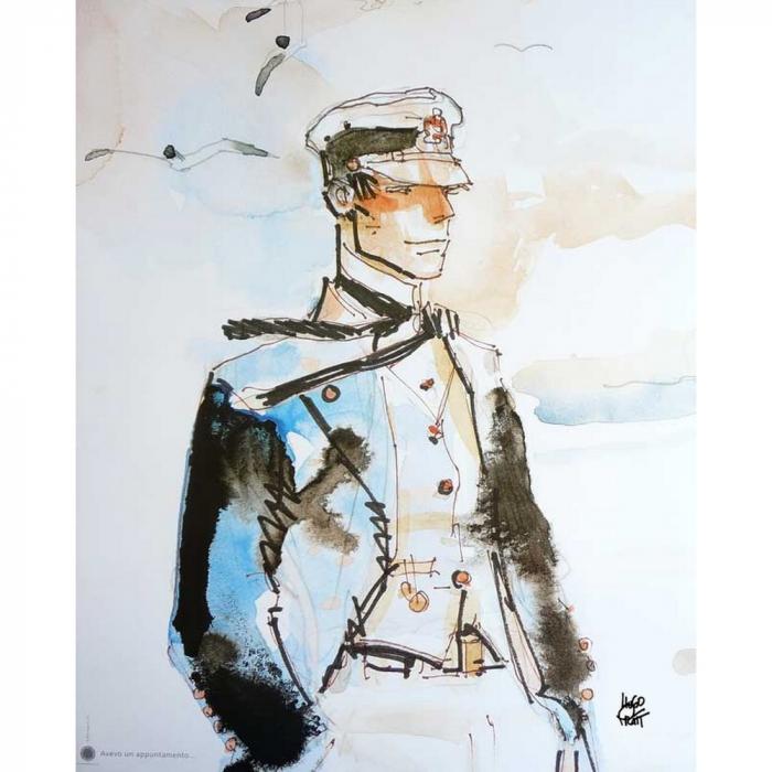 Póster cartel offset Corto Maltés, Avevo un Appuntamento (40x50cm)