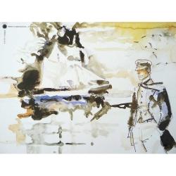 Póster cartel offset Corto Maltés, Avevo un Appuntamento (24x18cm)