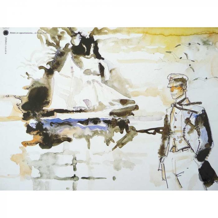 Póster cartel offset Corto Maltés, Avevo un Appuntamento (18x24cm)