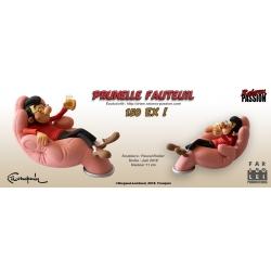 Collectible Figure Fariboles Raiarox Gaston Lagaffe Prunelle in his chair (2018)