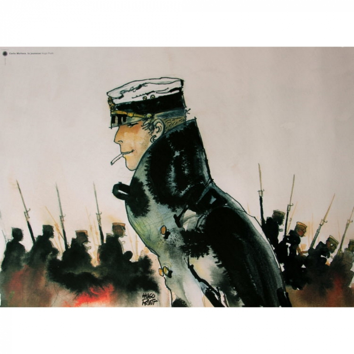 Poster affiche offset Corto Maltese, La jeunesse (70x50cm)