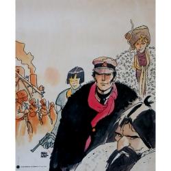 Poster affiche offset Corto Maltese, Sibérie (40x50cm)