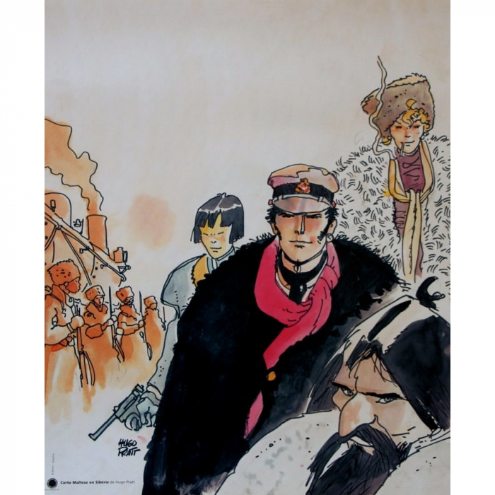 Poster affiche offset Corto Maltese, Sibérie (18x24cm)