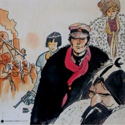 Poster affiche offset Corto Maltese, Sibérie (70x70cm)