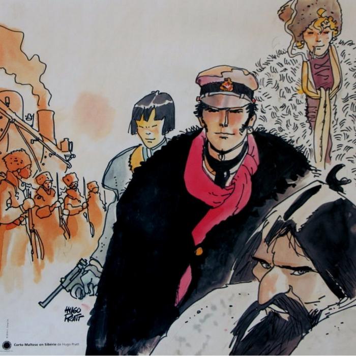 Poster offset Corto Maltese, Sibérie (70x70cm)