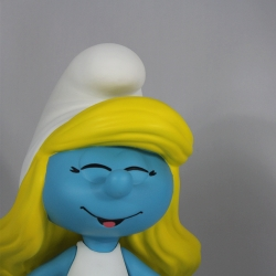 Collectible figurine Puppy Smurfette and Smurf Blossom 28cm (2018)