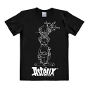 T-shirt 100% cotton Logoshirt® Asterix Sketch (Black)