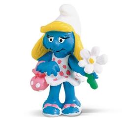 Figura Schleich® Los Pitufos - La Pitufa con la flor (20421)