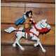 Figurine de collection Johan et Pirlouit: Johan et son cheval (2017)