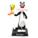 Figura de colección Warner Bros Looney Tunes Silvestre con Piolín (7cm)