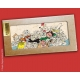 Collectible marble sign Gaston Lagaffe sleeping Zzzz! (20x10cm)