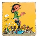 Collectible marble sign Gaston Lagaffe in giant (20x20cm)
