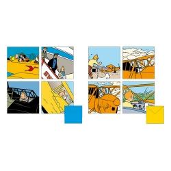 Set de 8 Tarjetas de felicitación dobles Tintín aviones 31185 (15x15cm)