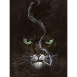 Poster affiche offset Blacksad Juanjo Guarnido, Portrait à la cigarette (50x70cm)