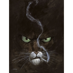 Póster cartel offset Blacksad Juanjo Guarnido, Retrato con cigarrillo (18x24cm)