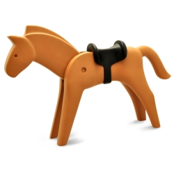 Figurine de collection Plastoy Playmobil le cheval marron 00261 (2017)