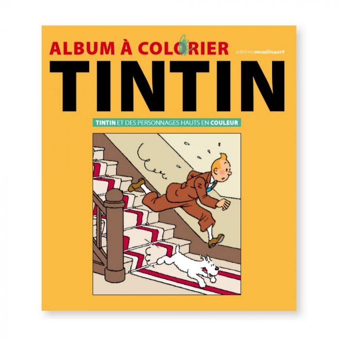 Colouring Book Tintin and colorful characters 24367 (2018)