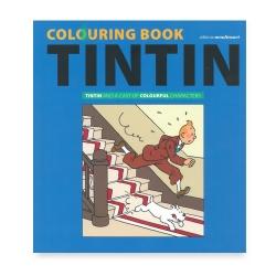 Livre album à colorier Tintin et les personnages en couleur 24368 (2018)