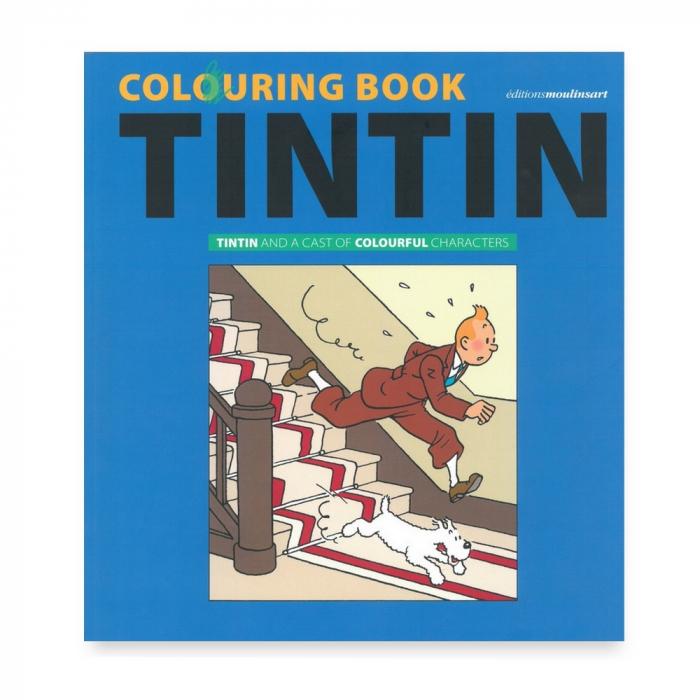 Libro para colorear Tintín y sus personajes coloridos 24368 (2018)