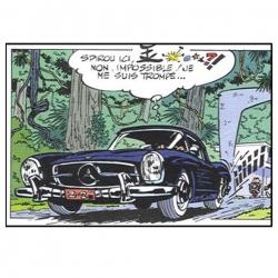Mercedes 300 SL Roadster 1957 Spirou and Fantasio Figures et Vous GF15 (2018)
