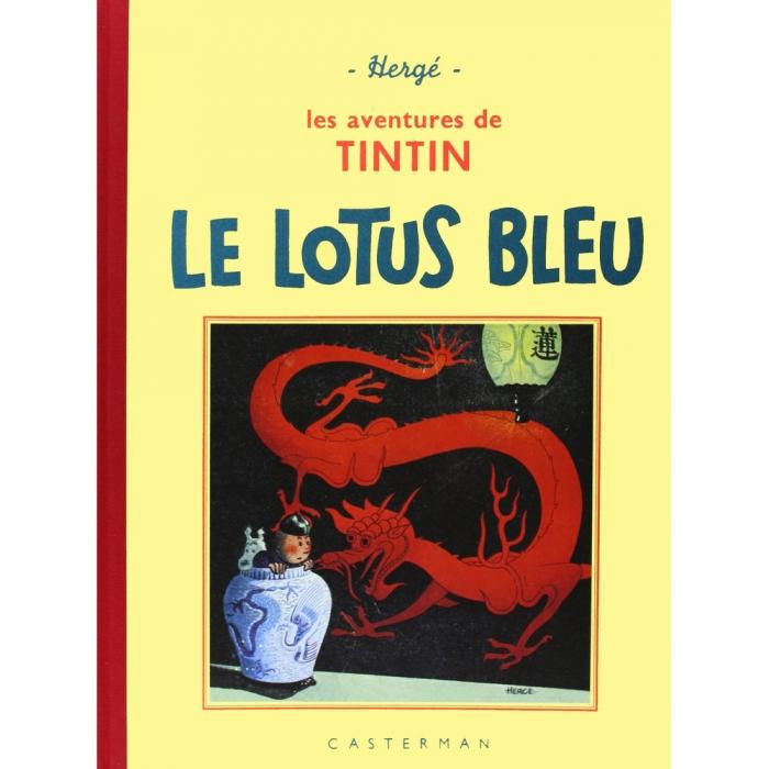 Album de Tintin: Le lotus bleu Edition fac-similé Noir & Blanc (Nº5)