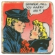 Placa de mármol colección Steve Canyon, Milton Caniff Marry me? (10x10cm)