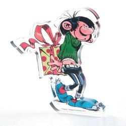 Figura en acrílico Art To Print Tomás el Gafe con su regalo (10cm)