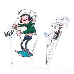 Figurine en acrylique Art To Print Gaston Lagaffe ouvre le champagne (10cm)