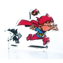 Collectible Acrylic Figurine Art To Print Young Spirou Superhero (10cm)