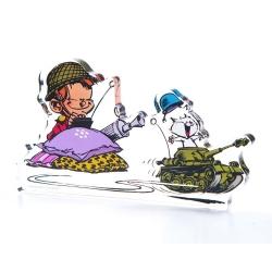 Figura en acrílico Art To Print El Pequeño Spirou Militar (10cm)