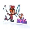 Figura en acrílico Art To Print El Pequeño Spirou en el circo (10cm)