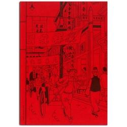 Carnet de notes Tintin Le Lotus bleu Shanghai 18x25cm (54367)