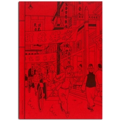 Notebook Tintin The Blue Lotus Shanghai 18x25cm (54367)