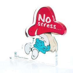 Figura en acrílico Art To Print Los Pitufos, el Pitufo No Stress (10cm)