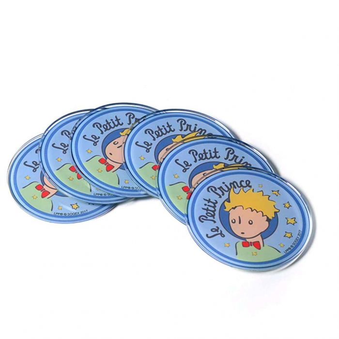 Set of 6 Art To Print The Little Prince Acrylic coasters (9cm)