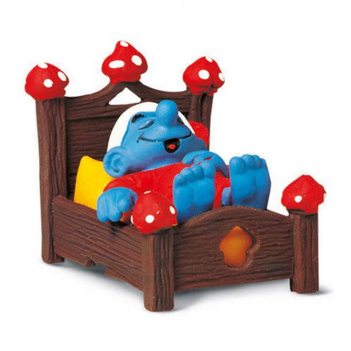 Figurine Schleich® Les Schtroumpfs Le Schtroumpf dans son lit (40240)