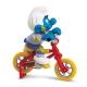 Figura Schleich® Los Pitufos - El Pitufo en su bicicleta BMX (40252)