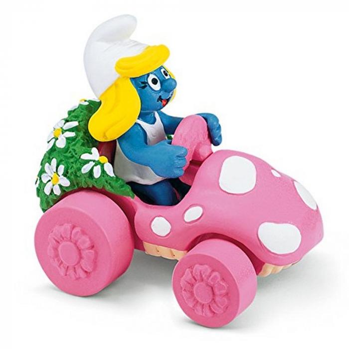 Figura Schleich® Los Pitufos - Pitufina en su coche (40265)