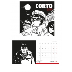 2019 Wall Calendar Corto Maltese 30x30cm (24402)